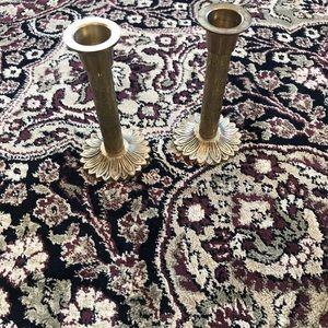 """Brass candle sticks 5"""" tall"""